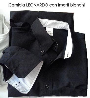 Ariell divise da lavoro CAMICIA LEONARDO ANTIMACCHIA con inserti bianchi
