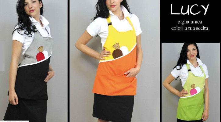Ariell divise da lavoro grembiuli pettorine per Gelaterie Ristorazione Bar Catering personalizzati con il tuo logo senza minimi quantitativi