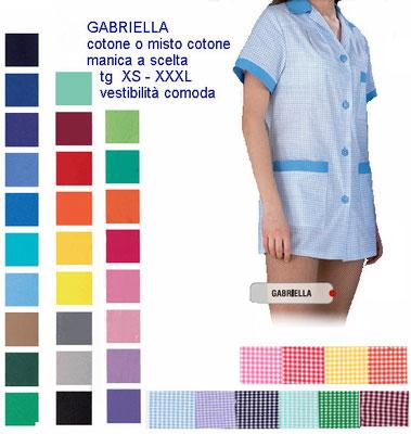 GABRIELLA casacca con cerniera manica corta o lunga. Colletto a camicia. Vestibilità sciancrata. Colori e inserti a contrasto a Tua scelta