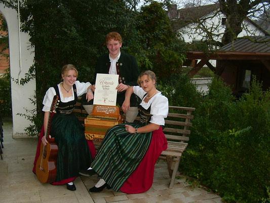 Auszeichnung beim Alpenländischen Volksmusikwettbewerb Innsbruck