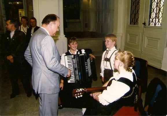Mit Landtagspräsident a. D. Böhm