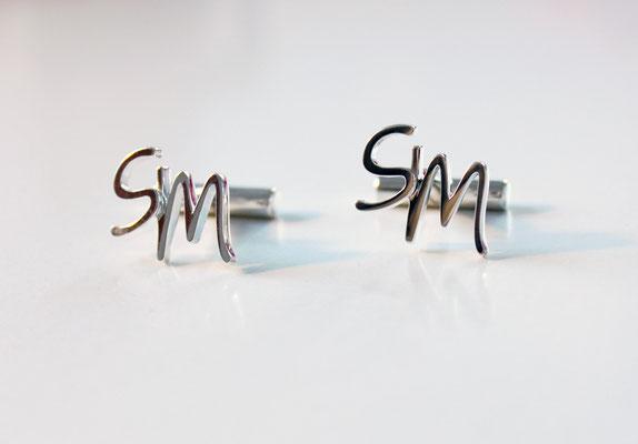 Manschettenknöpfe in Silber