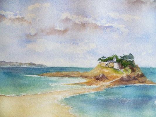 Île Dugesclin, aquarelle sur papier 05-2018  (24x30)