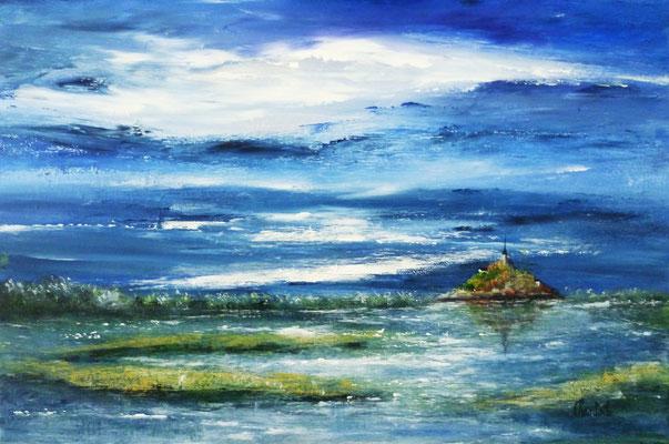 Mont st Michel, acrylique sur toile  41x27