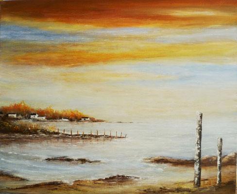 Bretagne, acrylique sur toile <61x50>