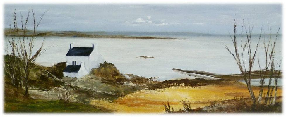 Bretagne, acrylique 2016 sur toile 20x50