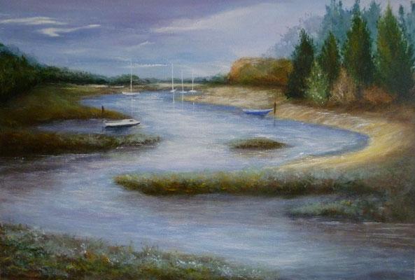 Le havre du lupin, St Coulomb, acrylique sur toile  (55x38)