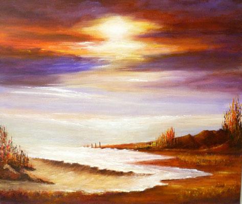 Lumière, acrylique sur toile <46x55>