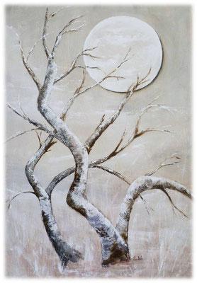 Pleine-Lune, acrylique sur toile  55x38