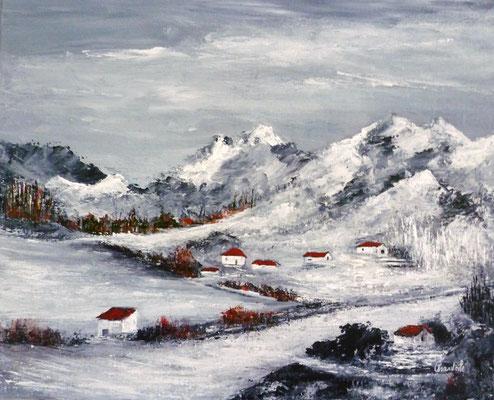 Montagne, acrylique sur toile 33x41