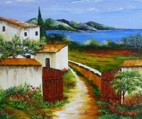 Provence, acrylique  46x38