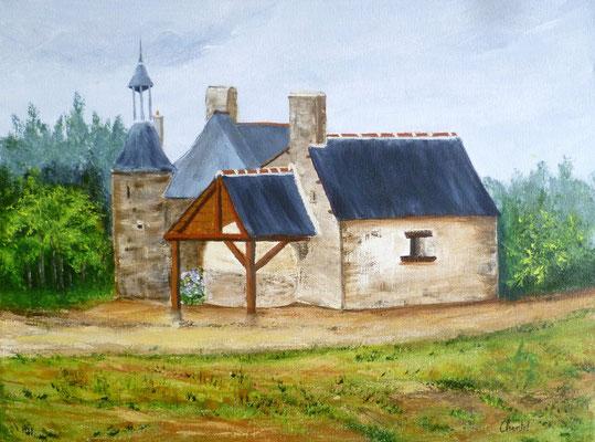 Four à pain, Pleine-Fougères, peint sur le motif, acrylique 30x40