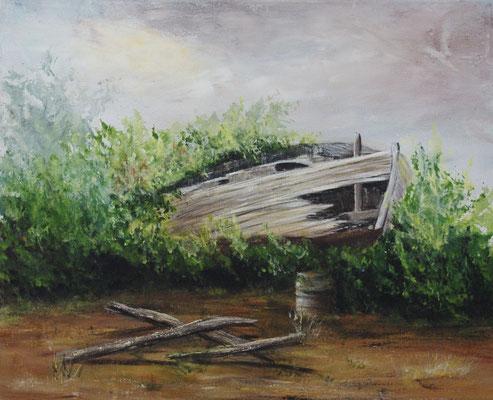 Acrylique, peint sur le motif, Couleurs de Bretagne à Plouër sur Rance