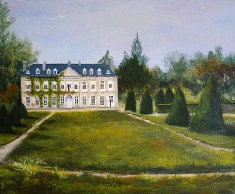 Château de la Rouërie, St Ouen la Rouërie, acrylique sur toile  (65x54)
