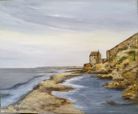 Chapelle st Aubert, Mt st Michel, acrylique