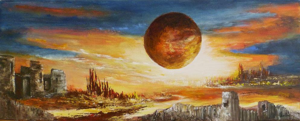 Un autre monde, acrylique sur toile 20x50