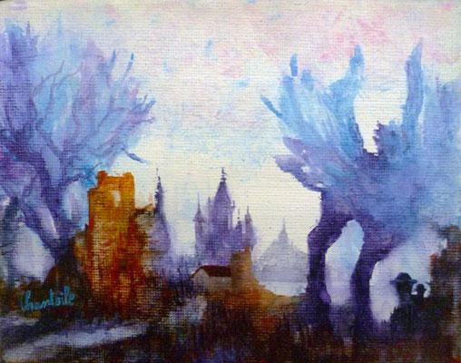 Aquarelle sur toile,  18x24