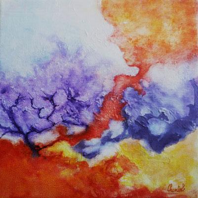 Sans nom, aquarelle et crylique sur toile  20x20