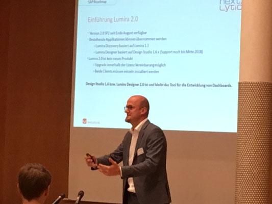 Sebastian Uhlig erklärt, was es mit dem Umstieg auf SAP Lumira 2.0 auf sich hat.