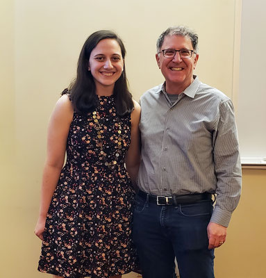 Left to Right: Alexandra Schneider, Dr. Jon Dinman
