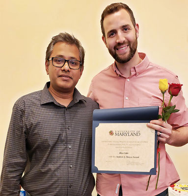 Andrew J. Moyer Award: L to R: Alex Sohr, Dr. Sougata Roy