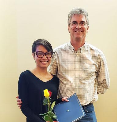 Isabel R. McDonald Service Award: L to R: Rezia Era Braza, Dr. Kevin McIver