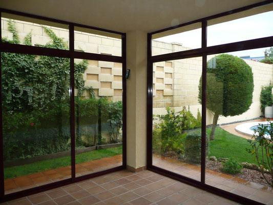 Cerramiento de terraza vista desde el interior.