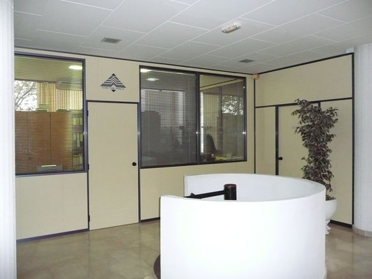 Mampara doble de oficina