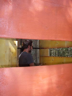 Damien à la peinture intérieure