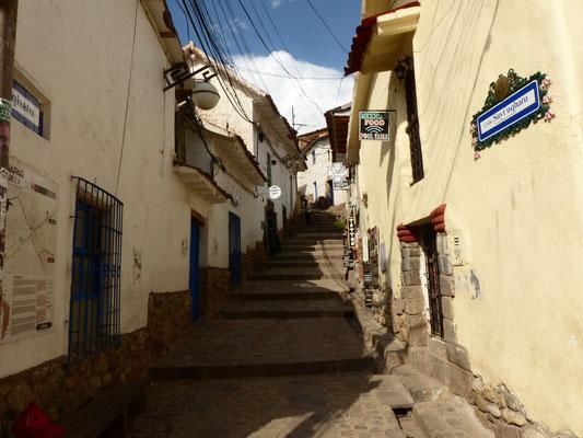 Nur wenige Fußminuten von der Plaza de Armas liegt das pittoreske Künstlerviertel San Blas