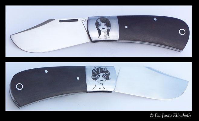 collaboration avec le coutelier souville et le tatoueur Natas.