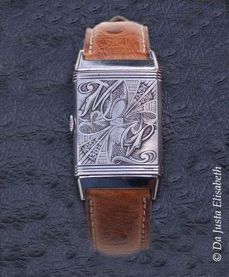 Initiales sur montre jaeger lecoultre reverso