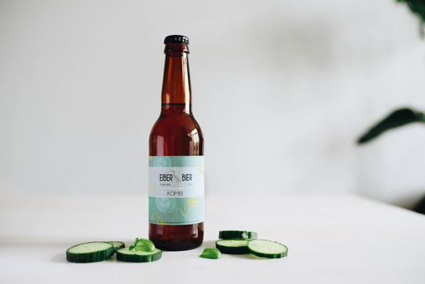 Etiket ontwerp voor bierbrouwerij Eiber Bier, Den Haag