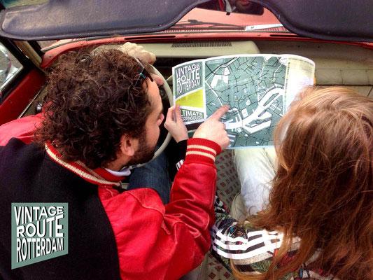 Kaartontwerp en opmaak Vintage Route Rotterdam