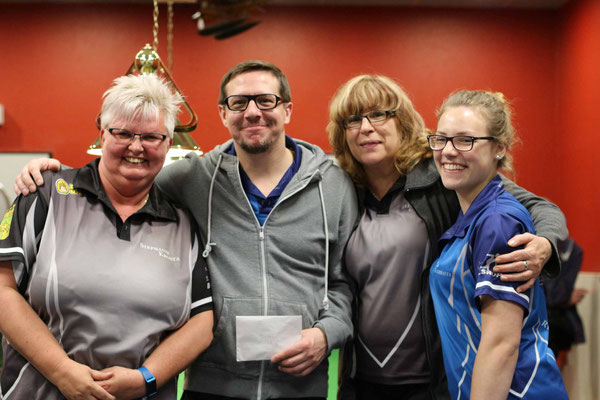 6. Platz Team Steffi Krosta, Dirk Gehrmann, Elke Gräwe Lea Buchbauer