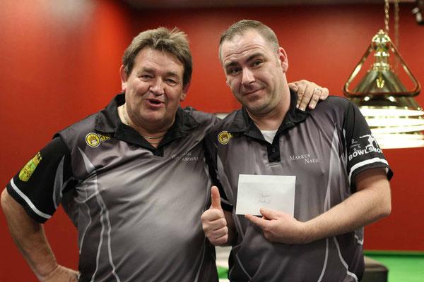 2. Platz Doppel Markus Naue und Wolfgang Krosta