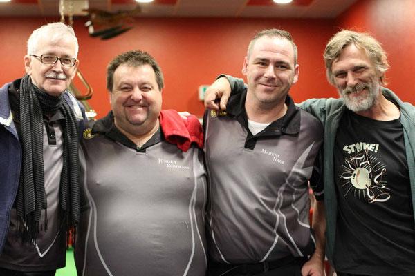 2. Platz Team Lothar Krause, Jürgen Rohmann, Markus Naue, Werner Köhler-Schnettker