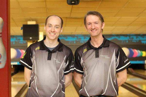 2. Platz Doppel Christian Czech und Cédric Andrik