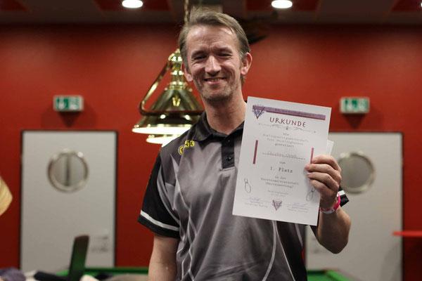 1. Platz Vereinsmeisterschaft Herren: Christian Czech