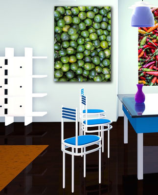 Calamansi frame example in a modern and colorful kitchen