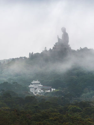 Landscape of the big Buddha in Hong Kong