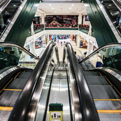 Photo of patterns in escalators