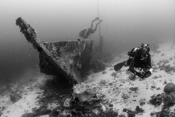 Underwater Wooden Wreck