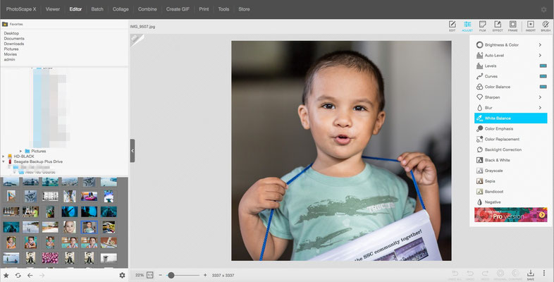 PhotoScape image processing and photoeditor (Very simple UI)