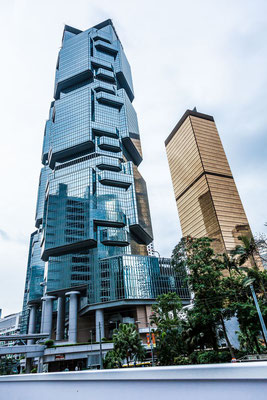 Photograph of the Panda building in Hong Kong