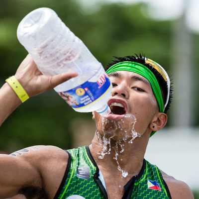 Picture of an athlete drinking