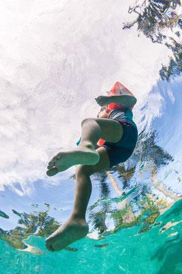My eldest son photo taken from underwater