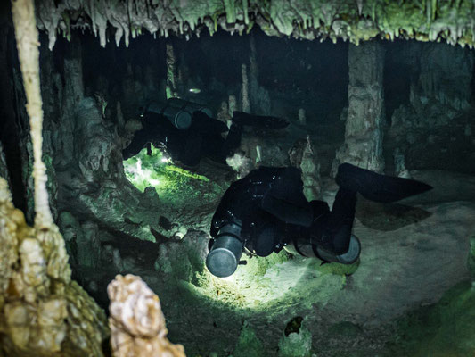 Exploration of an underwater cave