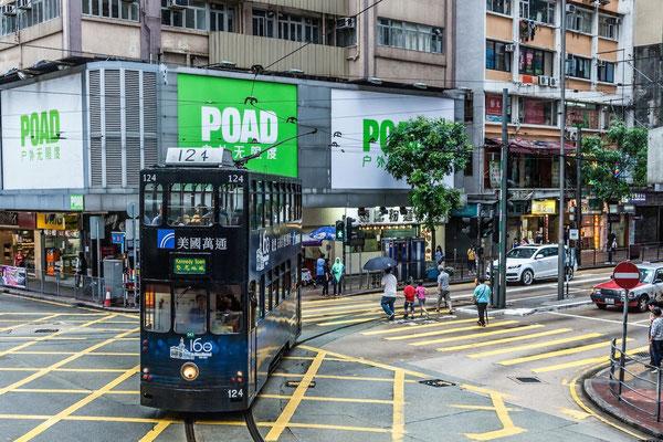 Photograph of a bus in Hong Kong © Patrice Laborda