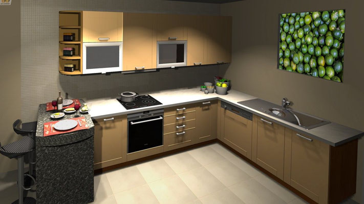 Calamansi canvas example in a classic kitchen